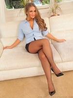 Amazing secretary Emma K in black pantyhose - 08