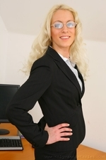 Sexy Secretary Shelley R Strips Out Of Her Smart Office Outfit - Picture 2