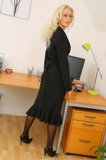 Sexy Secretary Shelley R Strips Out Of Her Smart Office Outfit - Picture 3
