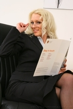 Sexy secretary Shelley strips out of her smart office outfit - 05