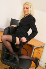 Sexy secretary Shelley strips out of her smart office outfit | 19 October 2014