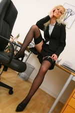 Sexy secretary Shelley strips out of her smart office outfit - 07