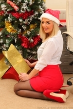 Amazing Blonde Erica Teasing In Stockings - Picture 5