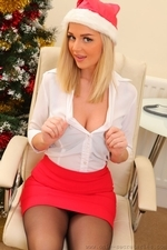 Amazing blonde Erica teasing in stockings - 08
