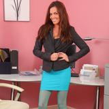 """""""Sexy redhead in turquoise pantyhose"""""""