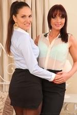 Amazing secretary duo in pantyhose - 02