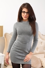 Briony looks lovely in her secretary dress - 02