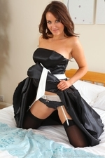 Curvy Zoe Alexandra Strips From Black Evening Gown - Picture 12