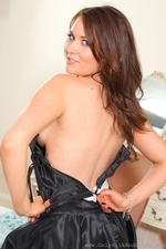 Curvy Zoe Alexandra Strips From Black Evening Gown - Picture 13