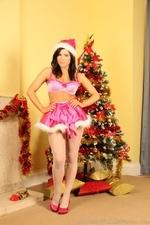 Jocelyn Kay In Christmas Leggings - Picture 1