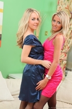 Rachael F And Becky R Look Sassy And Elegant In Their Satin Evening Dresses - Picture 1