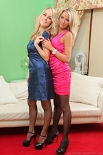 Rachael F And Becky R Look Sassy And Elegant In Their Satin Evening Dresses - Picture 3