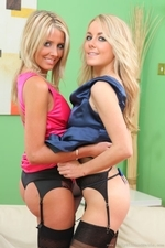Rachael F And Becky R Look Sassy And Elegant In Their Satin Evening Dresses - Picture 12