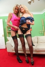 Rachael F And Becky R Look Sassy And Elegant In Their Satin Evening Dresses - Picture 13