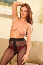 Kerri W Amazing Busty Secretary In Black Tights - Picture 16