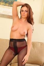 Kerri amazing busty secretary in black tights - 16