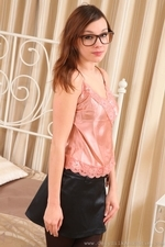 Amazing Jo E In Specs And Pantyhose - Picture 3