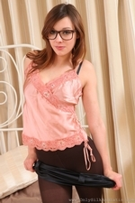 Amazing Jo E In Specs And Pantyhose - Picture 11