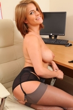 Jessica the sexy secretary in satin clothing - 16